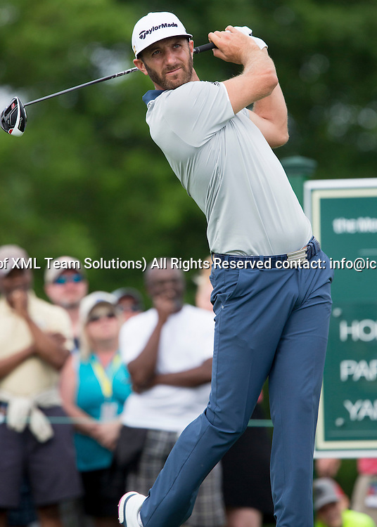 June 05 2016:  Dublin, OH, USA: Dustin Johnson teeing off during the Final Round of the Memorial Tournament presented by Nationwide at the Muirfield Village Golf Club. (Photo by Jason Mowry/Icon Sportwire)
