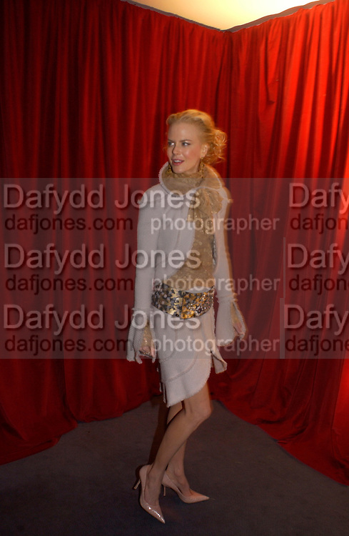 Nicole Kidman, Cold Mountain premiere after-party. Royal Opera House, 14 December 2003. © Copyright Photograph by Dafydd Jones 66 Stockwell Park Rd. London SW9 0DA Tel 020 7733 0108 www.dafjones.com