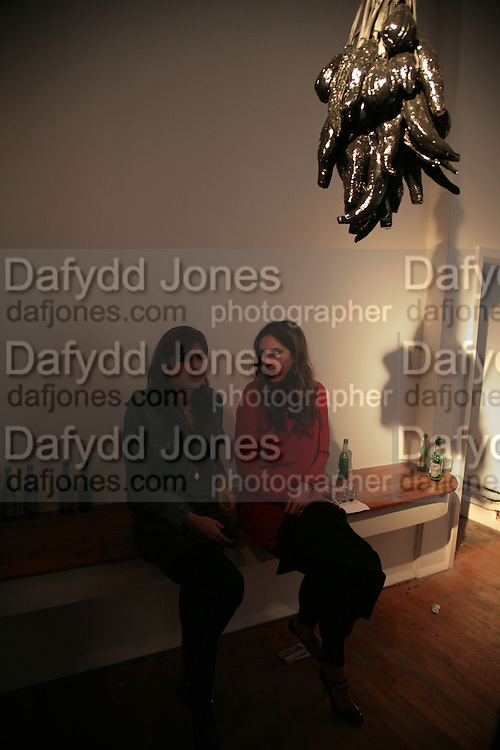 Charlotte Casiraghi AND TATIANA SANTO DOMINGO. Twenty Hoxton Square. Opening exhibition of new gallery at Twenty Hoxton Square. -DO NOT ARCHIVE-© Copyright Photograph by Dafydd Jones. 248 Clapham Rd. London SW9 0PZ. Tel 0207 820 0771. www.dafjones.com.