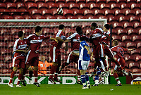 Photo: Jed Wee.<br /> Middlesbrough v Portsmouth. The Barclays Premiership. 28/08/2006.<br /> <br /> Middlesbrough players turn as one to watch a freekick from Portsmouth's David Thompson.