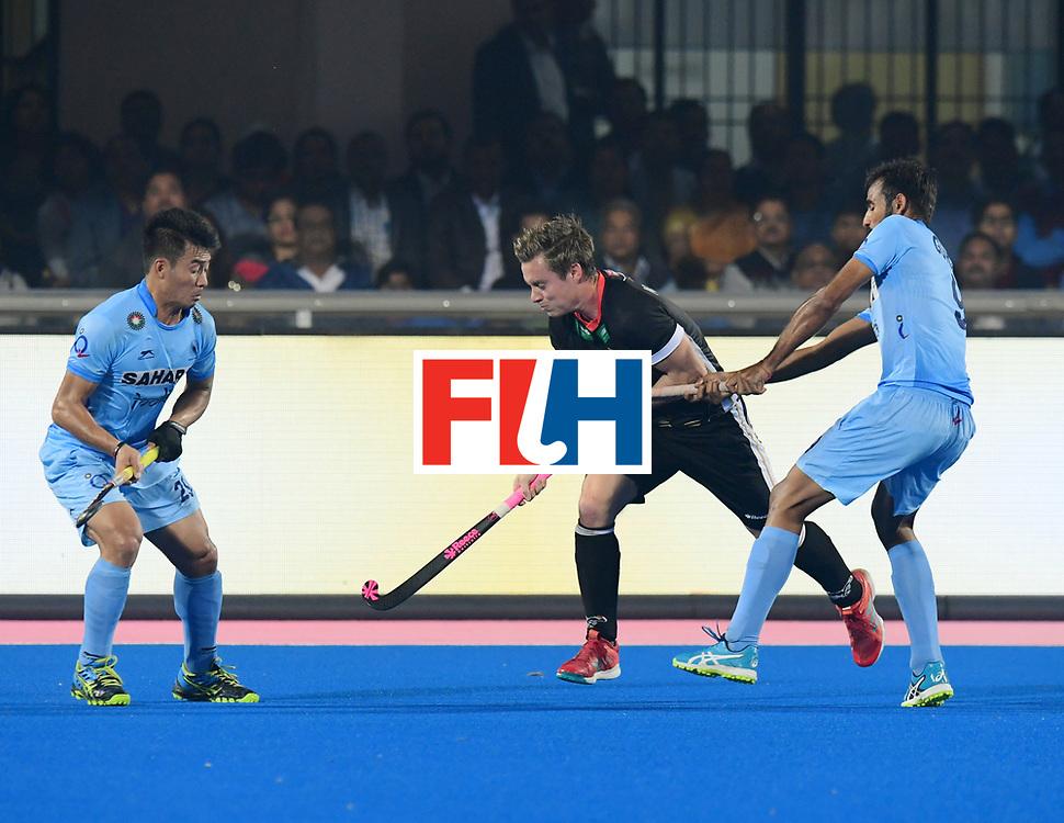 Odisha Men's Hockey World League Final Bhubaneswar 2017<br /> Match id:10<br /> India v Germany<br /> Foto: Chinglensana Kamgujam (Ind) and Gurjant Singh (Ind) <br /> WORLDSPORTPICS COPYRIGHT FRANK UIJLENBROEK