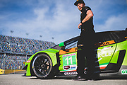 January 4, 5, 6, 2019. IMSA Weathertech Series ROAR test. #11 GRT Grasser Racing Team Lamborghini Huracan GT3, Orange 1 Racing, GTD: Mirko Bortolotti, Christian Engelhart, Kang Ling