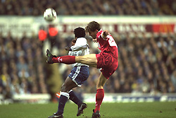 London, England - Monday, December 2, 1996: Liverpool's Stig Inge Bjornebye in action during the 2-0 Premier League victory over Tottenham Hotspur at White Hart Lane. (Pic by David Rawcliffe/Propaganda)
