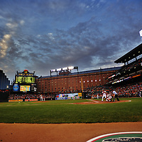 15 August 2012:  A 13 frame HDR image during the game at Camden Yards in Baltimore, MD. where Baltimore Orioles defeated the Boston Red Sox, 5-3.