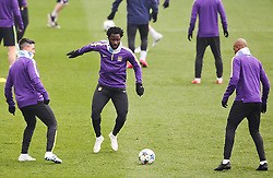 Manchester City's Samir Nasri, Wilfred Bony and Vincent Kompany during the training session at the Etihad Campus ahead of the UEFA Champions League second leg match against FC Barcelona - Photo mandatory by-line: Matt McNulty/JMP - Mobile: 07966 386802 - 17/03/2015 - SPORT - Football - Manchester - Etihad Campus - Barcelona v Manchester City - UEFA Champions League
