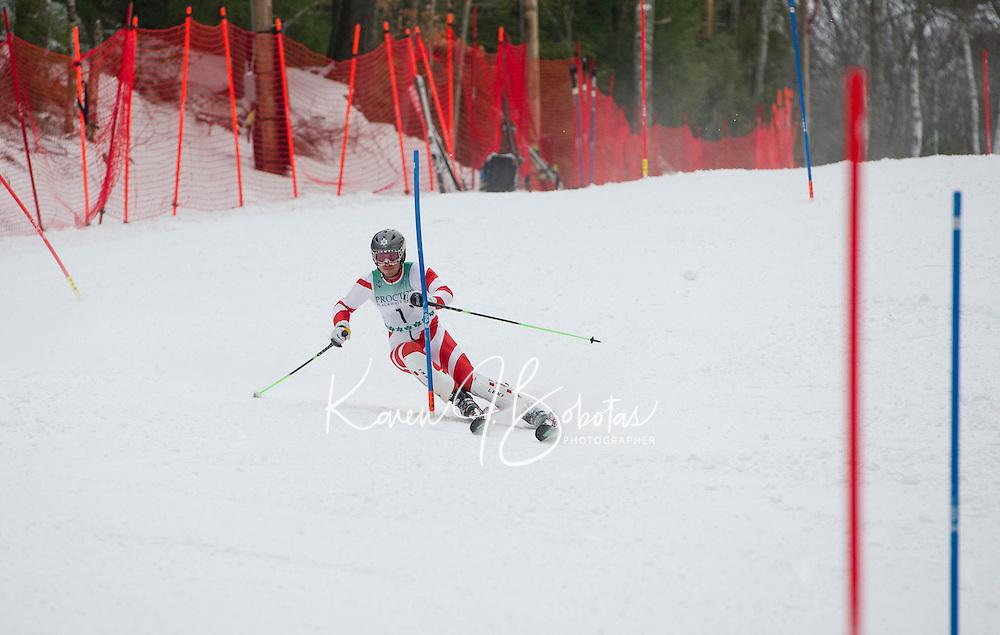 FIS Slalom mens run at Proctor Blackwater Ski Area in Andover, NH  December 31, 2012.