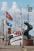 Varberg. The harbour.