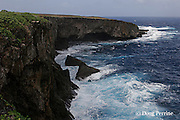 Banzai Cliff - site of suicide jumps by Japanese during<br /> American invasion in World War II, Saipan, Commonwealth of Northern Mariana Islands, Micronesia ( Western Pacific Ocean )