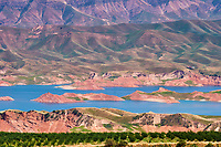 Tadjikistan, Asie centrale, le lac Nourek sur la route entre Douchanbe et Khorog // Tajikistan, Central Asia, Nourek lake on the road between Douchanbe and Khorog