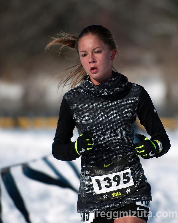 Billie Hatch, NXN Northwest girls varsity race, November 15, 2014 at Eagle Island State Park, Eagle, Idaho.