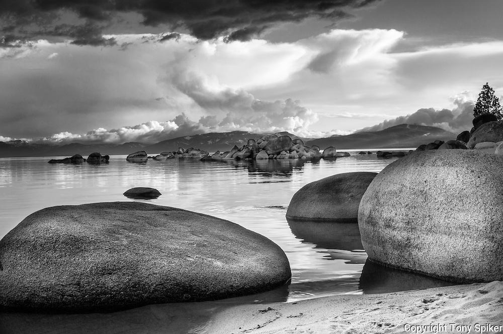 """Speedboat Beach 1"" - A black and white photograph of Speedboat Beach"