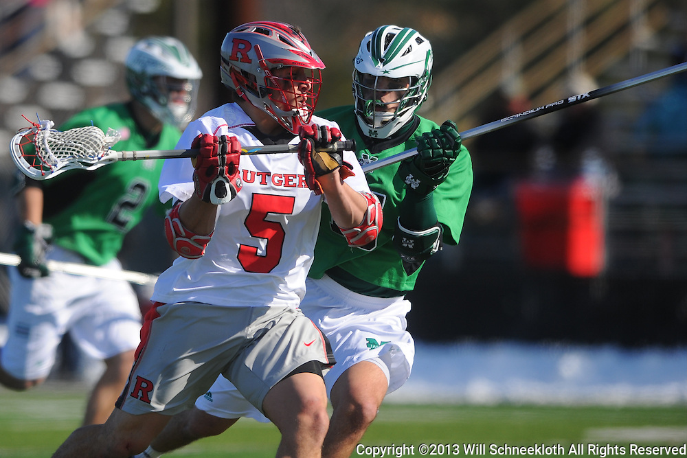 Rutgers Lacrosse defeats Manhattan 15-6 on Feb. 10, 2013 at Rutgers Field Complex in Piscataway, New Jersey.