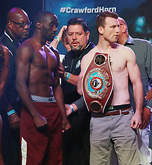 Weigh-In Ceremony for Terrence Crawford vs Jeff Horn WBO Welterweight Title Fight - 9 June 2018