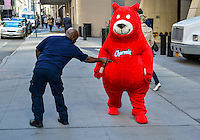 "The Charmin Bears strut their stuff in the ""Walk of the Great Icons""  in horor  of Advertising Week's 10th Anniversary Walk of Fame. / Russ DeSantis / AP Images for Charmin"