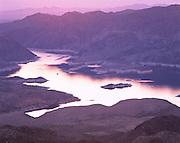 0701-1001 ~ Copyright: George H. H. Huey ~ Lake Mead at dusk. Lake Mead National Recreation Area. Arizona/Nevada.