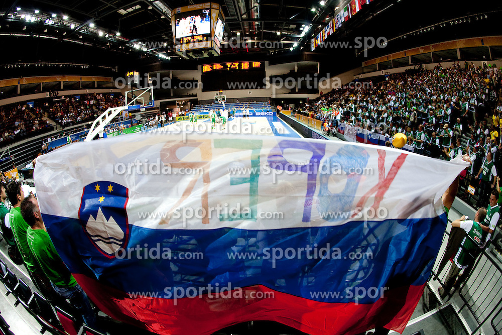 during basketball match between National teams of Belgium and Slovenia in Group D of Preliminary Round of Eurobasket Lithuania 2011, on September 4, 2011, in Arena Svyturio, Klaipeda, Lithuania.  Slovenia defeated Belgium 70-61. (Photo by Vid Ponikvar / Sportida)