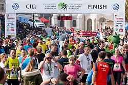 Runners during 20th Ljubljana Marathon 2015, on October 25, 2015 in Ljubljana, Slovenia. Photo by Urban Urbanc / Sportida.com