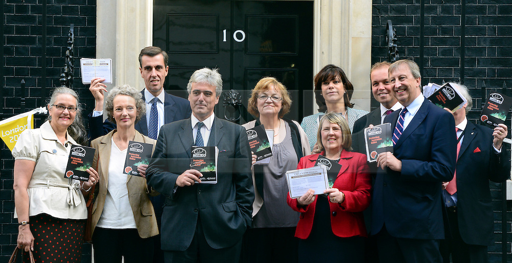 © Licensed to London News Pictures. 06/09/2012. Westminster, UK  A Petition, signed by 110,000 people, calling on the government to make it compulsory for Internet Service Providers to block pornography as a default setting is delivered to Downing Street. More than 140 MPs and peers are among those that have signed the Safetynet campaign.. Photo credit : Stephen Simpson/LNP