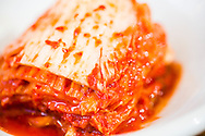 Kimchi, served as a side dish to bibimbap. Seoul, South Korea