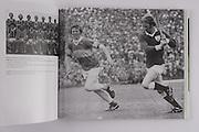 "left: Kilkenny-All-Ireland Hurling Champions 1975. Back Row: Brian Coady, Tom McCormack, Mick Crotty, Pat Henderson, Eddie Keher, Frank Cummins, Pat Delaney, Fan Larkin. Front Row: Liam ""Chunky"" O'Brien, Noel Skehan, Billy Fitzpatrick (capt), Mick Brennan, Pat Lalor, Kieran Purcell, Nicky Orr. .right: Galway's Marty Barrett and Tipperary's Jack Bergin in action in Galway's first League Final win since 1951 in Limerick in 1975."
