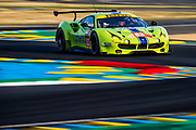 June 13-18, 2017. 24 hours of Le Mans. 83 DH Racing, Ferrari 488 GTE, Tracy Krohn, Nic Jonsson, Andrea Bertolini