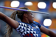 Alexie Alais (FRA) competes in Javelin Throw Women during the European Championships 2018, at Olympic Stadium in Berlin, Germany, Day 3, on August 9, 2018 - Photo Photo Julien Crosnier / KMSP / ProSportsImages / DPPI