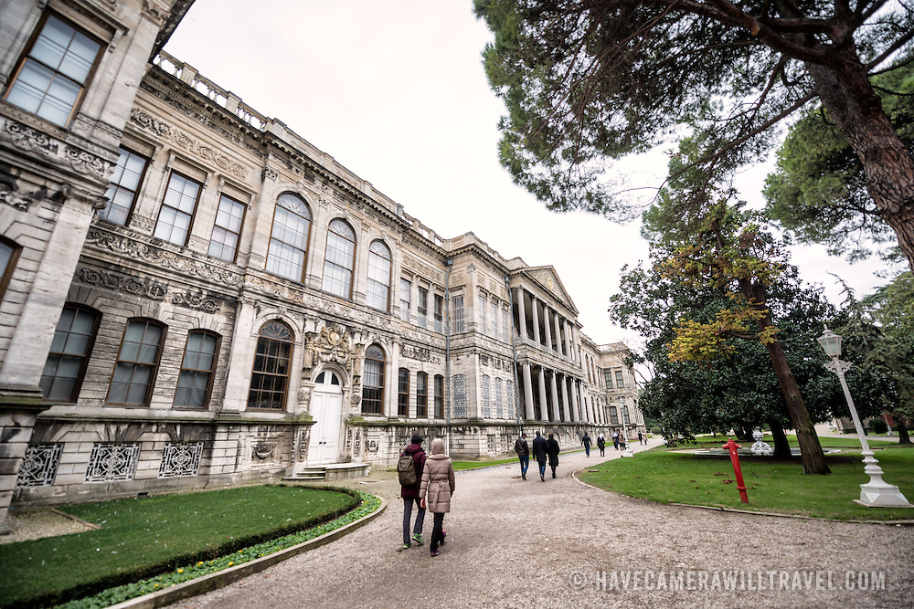 Dolmabahçe Palace, on the banks of the Bosphorus Strait, was the administrative center of the Ottoman Empire from 1856 to 1887 and 1909 to 1922. Built and decorated in the Ottoman Baroque style, it stretches along a section of the European coast of the Bosphorus Strait in central Istanbul.