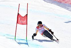 de LANGEN Niels LW12-2 NED competing in ParaSkiAlpin, Para Alpine Skiing, Super G at PyeongChang2018 Winter Paralympic Games, South Korea.