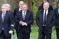 © Licensed to London News Pictures. 02/05/2014 Rangers Manager Ally McCoist attending the Funeral of  Legendary Scottish Footballer Sandy Jardine which took place at Mortonhall Crematorium today. Edinburgh, Scotland Photo credit : Duncan McGlynn/LNP