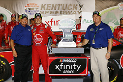 July 13, 2018 - Sparta, Kentucky, United States of America - Christopher Bell (20) wins the Alsco 300 at Kentucky Speedway in Sparta, Kentucky. (Credit Image: © Chris Owens Asp Inc/ASP via ZUMA Wire)