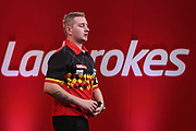 Dimitri Van den Bergh during the Ladrokes UK Open 2019 at Butlins Minehead, Minehead, United Kingdom on 1 March 2019.