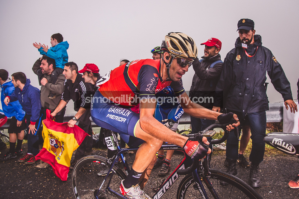 September 6th 2017, Los Machucos, Spain; Cycling, Vuelta a Espana Stage 17; Vincenzo Nibali