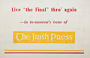 All Ireland Senior Hurling Championship Final, .Brochures, .23.09.1956, 09.23.1956, 23rd September 1956,.Wexford 2-14, Cork 2-8,.Minor Kilkenny v Tipperary, .Senior Cork v Wexford,.Croke Park,..Advertisements, The Irish Press,