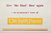 All Ireland Senior Hurling Championship Final, .Brochures, .23.09.1956, 09.23.1956, 23rd September 1956,.Wexford 2-14, Cork 2-8,.Minor Kilkenny v Tipperary, .Senior Cork v Wexford,.Croke Park,..Advertisements, The Irish Press,