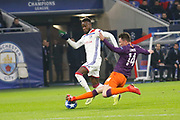 Aymeric Laporte of Manchester City and Cornet Maxwel of Lyon during the UEFA Champions league, Group F football match between Olympique Lyonnais and Manchester City on November 27, 2018 at Groupama stadium in Decines-Charpieu near Lyon, France - Photo Romain Biard / Isports / ProSportsImages / DPPI