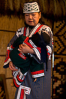 An Ainu woman performs a traditional lullaby song.