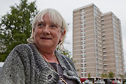 Charlotte Grant from Kentmere Court Tenants and Leaseholders Association, Charlestown, Manchester, where Northwards Housing have installed Photo Voltaic (PV) panels. Northwards housing have dramatically improved the energy rating to thousands of homes they manage for Manchester city council.