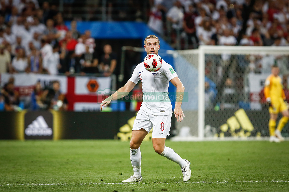 July 11, 2018 - Moscow, Vazio, Russia - Jordan HENDERSON of England during a match between England and Croatia valid for the semi final of the 2018 World Cup, held at the Lujniki Stadium in Moscow in Russia. Croatia wins 2-1. (Credit Image: © Thiago Bernardes/Pacific Press via ZUMA Wire)