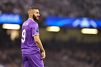 Karim Benzema of Real Madrid during the UEFA Champions League Final match between Real Madrid and Juventus at the National Stadium of Wales, Cardiff, Wales on 3 June 2017. Photo by Giuseppe Maffia.<br /> Giuseppe Maffia/UK Sports Pics Ltd/Alterphotos