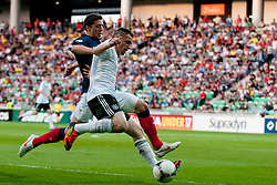 Pascal Itter of Germany vs Clement Lenglet of France during the UEFA European Under-17 Championship Group A match between Germany and France on May 10, 2012 in SRC Stozice, Ljubljana, Slovenia. (Photo by Matic Klansek Velej / Sportida.com)