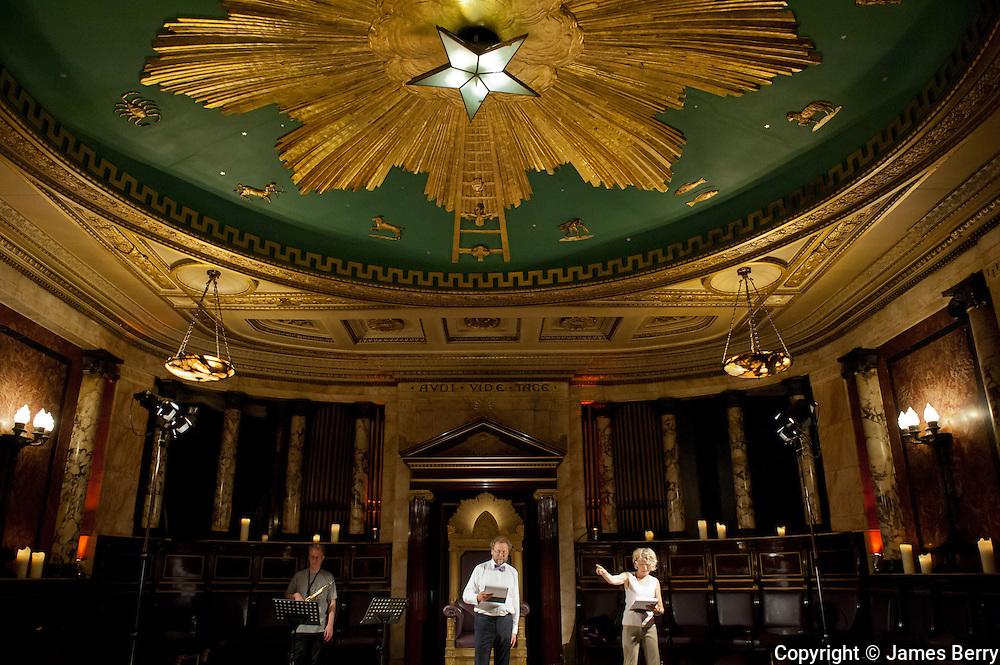 Metamorphoses Rehearsal. Masonic Temple, Andaz Hotel, Liverpool Street.