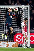 AMSTERDAM - 05-04-2017, Ajax - AZ, Stadion Arena, AZ keeper Tim Krul, Ajax speler Amin Younes
