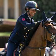 Roma 25/05/2018 Piazza di Siena<br /> 86 CSIO Piazza di Siena<br /> Giulia Martinengo Marquet accarezza Verdine SZ al termine della prima manche