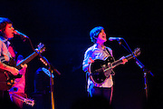 Tegan and Sara perform at the Bass Concert Hall, Austin Texas, February 26, 2010. Tegan and Sara are a Canadian Indie band led by identical twins Tegan Rain Quin and Sara Kiersten Quin (born September 19, 1980). Both Tegan and Sara play guitar and keyboard and write songs.