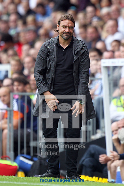 Norwich Head Coach Daniel Farke during the Sky Bet Championship match at Craven Cottage, London<br /> Picture by Paul Chesterton/Focus Images Ltd +44 7904 640267<br /> 05/08/2017