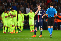 Deception Yohan CABAYE - 15.04.2015 - Paris Saint Germain / Barcelone - 1/4Finale Aller Champions League<br />