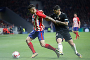 Atletico Madrid's Argentinian forward Angel Correa vies for the ball during the Spanish Cup, Copa del Rey quarter final, 1st leg football match between Atletico Madrid and Sevilla FC on January 17, 2018 at Wanda Metropolitano stadium in Madrid, Spain - Photo Benjamin Cremel / ProSportsImages / DPPI