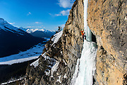 Bruce Hendricks on Skinny Puppy WI5, Icefields Parkway, Banff National Park, Canada