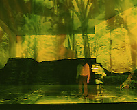 Choreographer, Pina Bausch's Tantztheater Wuppertal in Masurca Fogo. Sadlers Wells Theatre.