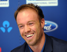 Auckland-Cricket, Sth African captain AB de Villiers press conference